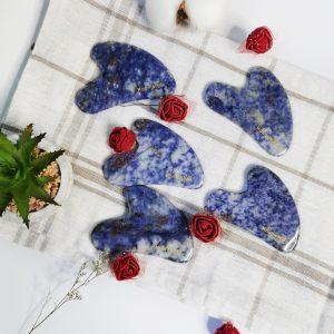 Kamienie Gua Sha niebieski z sodalitu 11