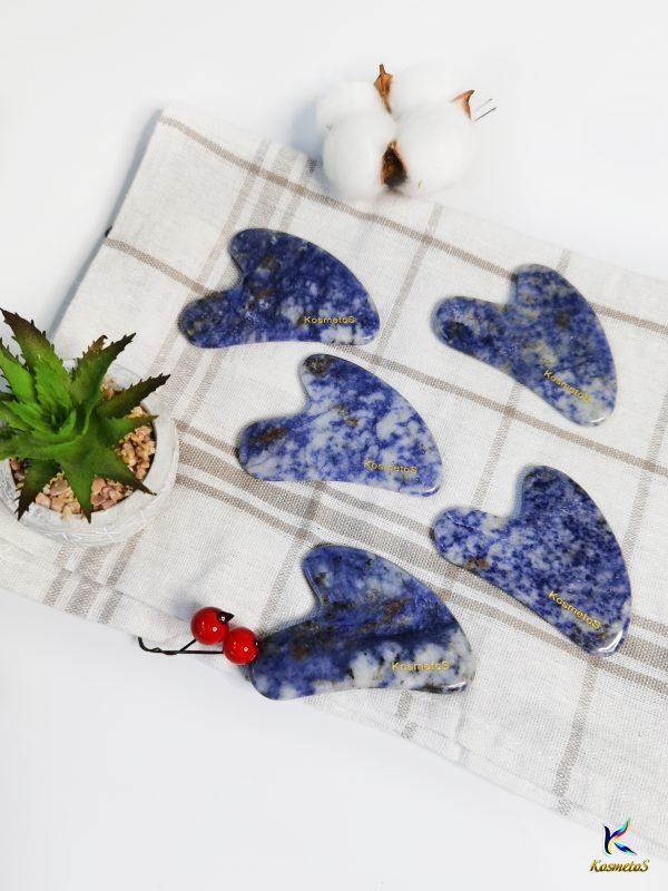 Kamienie Gua Sha niebieski z sodalitu 12