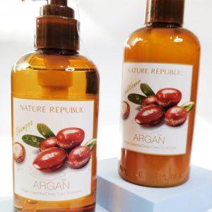 Nature Republic Argan Essential Deep Care Sampoo i Nature Republic Argan Essential Deep Care Conditioner 1