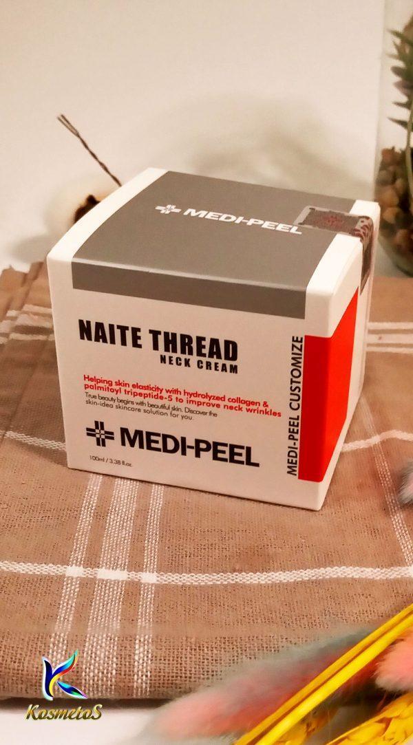 Peptydowy krem na szyję i dekolt Medi Peel Naite Thread Neck Cream 2