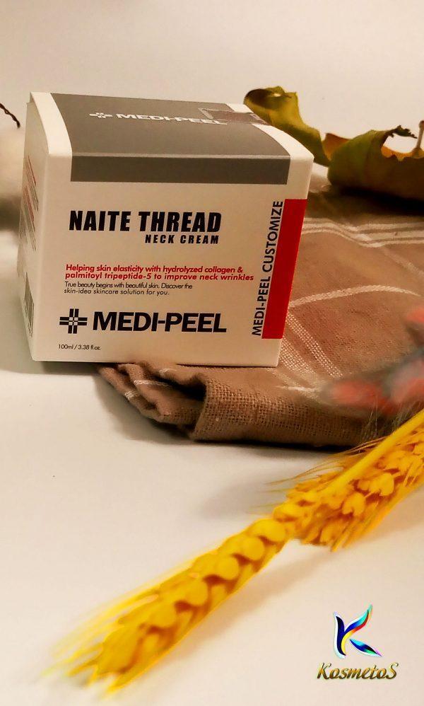 Peptydowy krem na szyję i dekolt Medi Peel Naite Thread Neck Cream 3