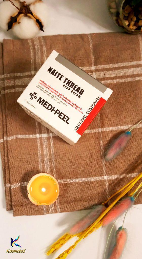 Peptydowy krem na szyję i dekolt Medi Peel Naite Thread Neck Cream 4
