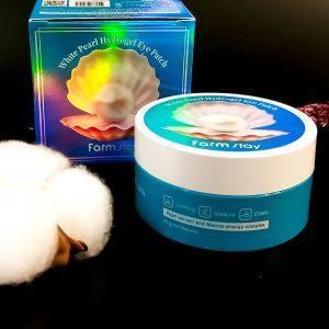 Plastry hydrożelowe z ekstraktem z pereł Farmstay White Pearl Hydrogel Eye Patch 1