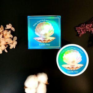 Plastry hydrożelowe z ekstraktem z pereł Farmstay White Pearl Hydrogel Eye Patch 2