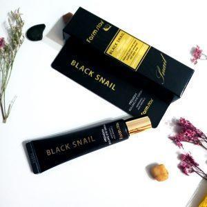 Serum do skóry wokół oczu z mucyną czarnego ślimaka FarmStay Black Snail Premium Rolling Eye Serum 1