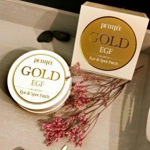 Hydrożelowe plastry na powieki ze złotymi cząstkami i czynnikiem wzrostu EGF Petitfee Gold & EGF Eye & Spot Patch 2