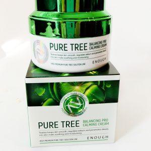 Kojący krem do twarzy z drzewem herbacianym Enough Pure Tree Balancing Pro Calming Cream 1