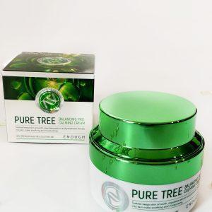 Kojący krem do twarzy z drzewem herbacianym Enough Pure Tree Balancing Pro Calming Cream 3