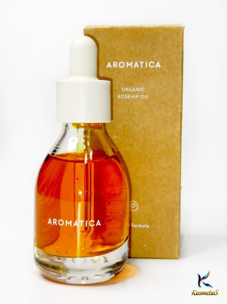 100% organiczny olej z dzikiej róży AROMATICA Organic Rose Hip Oil 1