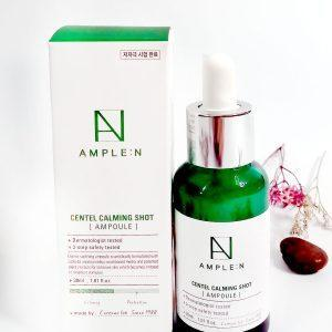 Kojące serum z Centella do skóry wrażliwej Ample N Centel Calming Shot Ampoule 3