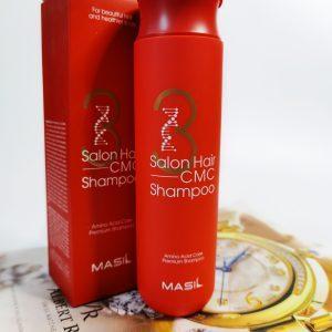 Regenerujący profesjonalny szampon z ceramidami Masil 3 Salon Hair CMC Shampoo 1