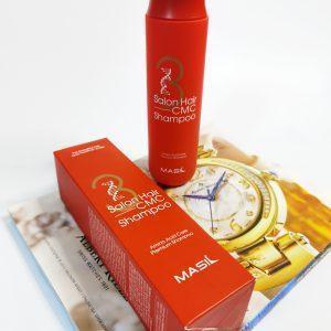 Regenerujący profesjonalny szampon z ceramidami Masil 3 Salon Hair CMC Shampoo 4