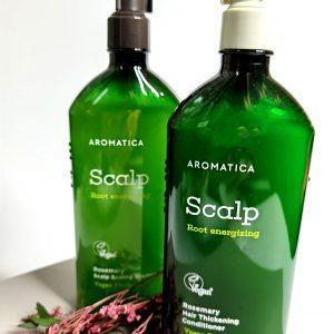 Bezsiarczanowy zestaw wzmacniający szampon i odżywka z rozmarynem Aromatica Rosemary Scalp Scaling Shampoo and Conditioner 1