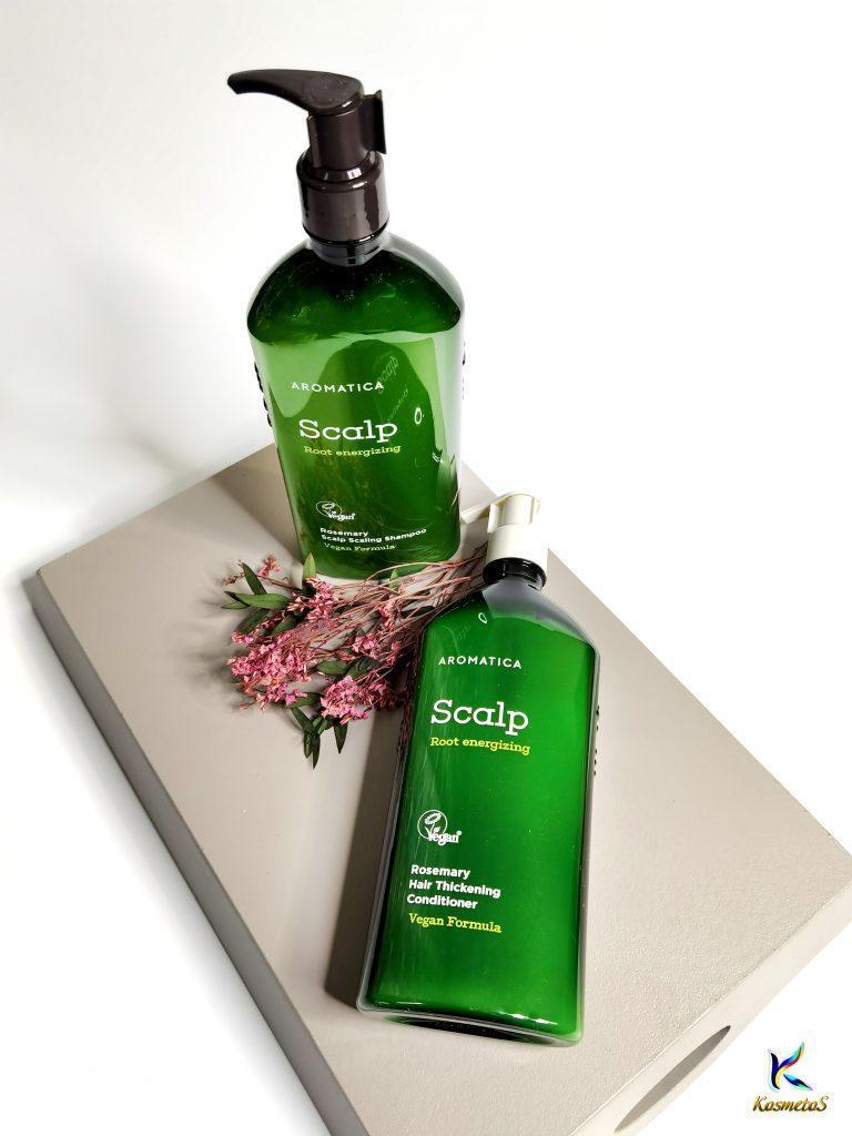 Bezsiarczanowy zestaw wzmacniający szampon i odżywka z rozmarynem Aromatica Rosemary Scalp Scaling Shampoo and Conditioner 3