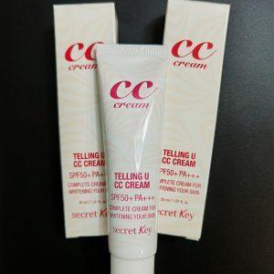 Krem pielęgnacyjny z funkcją rozjaśniania i wysoką ochroną UV СС крем Secret Key Telling U CC Cream 2