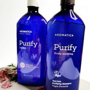 Szampon i odżywka z drzewa herbacianego do tłustej skóry głowy AROMATICA Tea Tree Purifying Shampoo and Conditioner 4