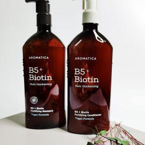 Bezsilikonowy szampon wzmacniający i odżywka z biotyną AROMATICA B5+Biotin Fortifying Shampoo and Conditioner 2
