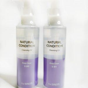 Hydrofilowy olej do skóry tłustej The Saem Natural Condition Cleansing Oil Deep Clean 4