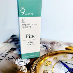 Kojące serum ampułkowe do zwężania porów 9Wishes Amazing Pine Ampule Serum 1