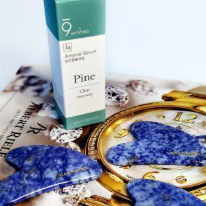 Kojące serum ampułkowe do zwężania porów 9Wishes Amazing Pine Ampule Serum 3