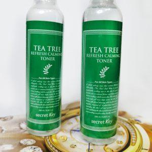 Oczyszczający tonik do twarzy z olejkiem z drzewa herbacianego do skóry problematycznej Secret Key Tea Tree Refresh Calming Toner 1