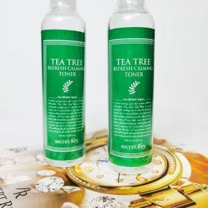 Oczyszczający tonik do twarzy z olejkiem z drzewa herbacianego do skóry problematycznej Secret Key Tea Tree Refresh Calming Toner 3