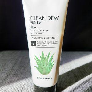 Pianka Do Mycia Twarzy Tony Moly Clean Dew Aloe Foam Cleanser 1