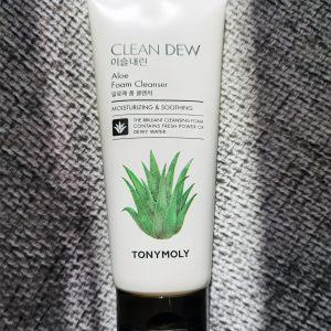 Pianka Do Mycia Twarzy Tony Moly Clean Dew Aloe Foam Cleanser 4