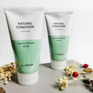Pianka-peeling do skóry problematycznej The Saem Natural Condition Scrub Foam 1