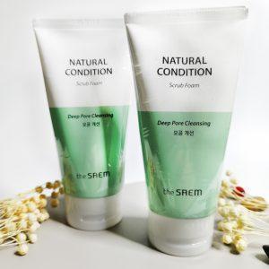 Pianka-peeling do skóry problematycznej The Saem Natural Condition Scrub Foam 2