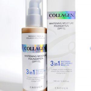 Podkład z kolagenem 3 w 1 dla blasku skóry Enough Collagen Whitening Moisture Foundation SPF 15 1