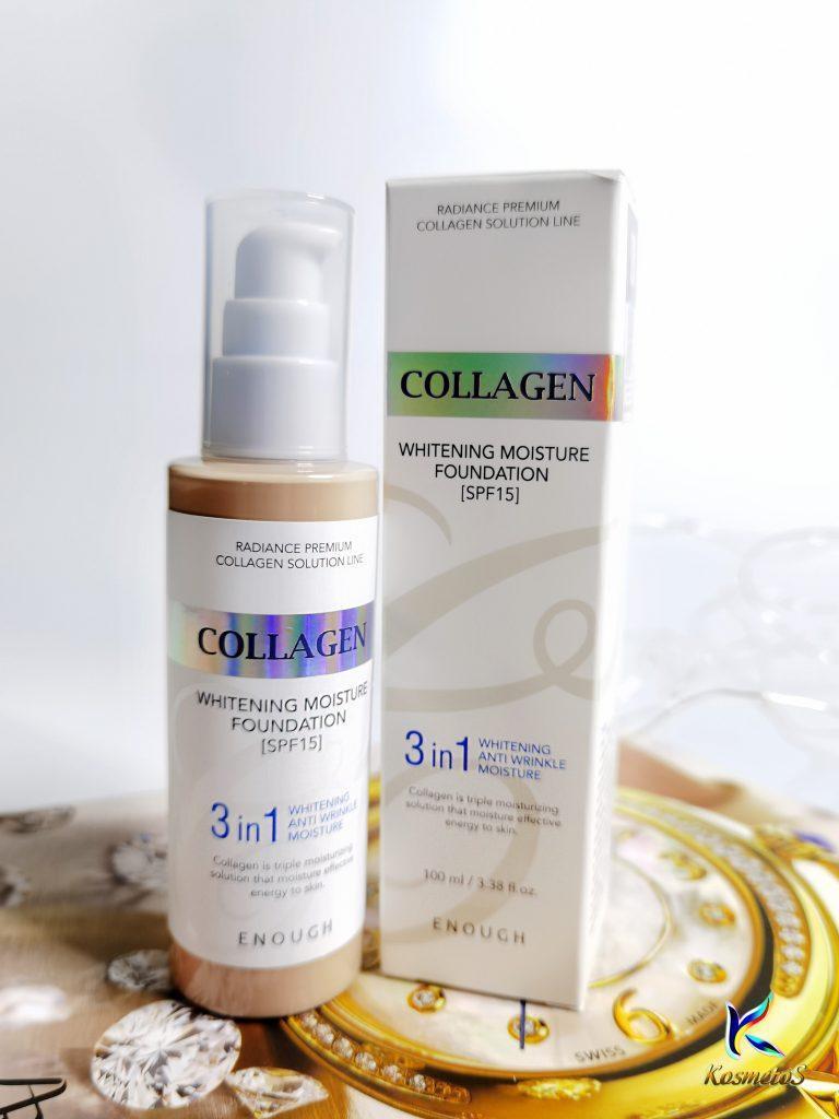 Podkład z kolagenem 3 w 1 dla blasku skóry Enough Collagen Whitening Moisture Foundation SPF 15 3
