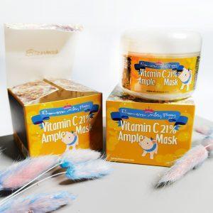 Rozjaśniająca maseczka rozgrzewająca z 21% witaminą C Elizavecca Milky Piggy Vitamin C 21% Ample Mask 1