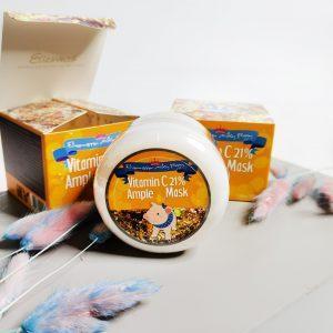 Rozjaśniająca maseczka rozgrzewająca z 21% witaminą C Elizavecca Milky Piggy Vitamin C 21% Ample Mask 4