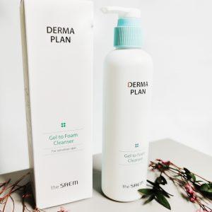Żel oczyszczający-pianka do skóry wrażliwej THE SAEM Derma Plan Gel to Foam Cleanser 1