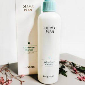 Żel oczyszczający-pianka do skóry wrażliwej THE SAEM Derma Plan Gel to Foam Cleanser 2