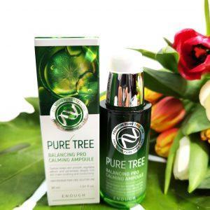 Kojące serum z ekstraktem z drzewa herbacianego ENOUGH Pure Tree Balancing Pro Calming Ampoule 1