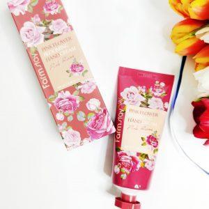Krem do rąk FarmStay Pink Flower Blooming Hand Cream Pink Rose 1