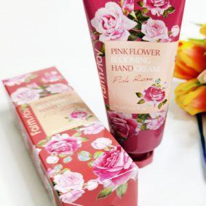 Krem do rąk FarmStay Pink Flower Blooming Hand Cream Pink Rose 3
