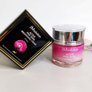 Krem rozświetlający z mucyną ślimaka JMsolution Active Pink Snail Brightening Cream Prime 3