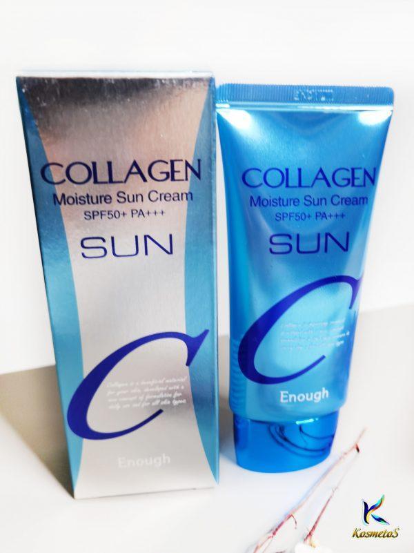 Nawilżający krem do opalania z kolagenem Enough Collagen Moisture Sun Cream SPF50+ PA+++ 1