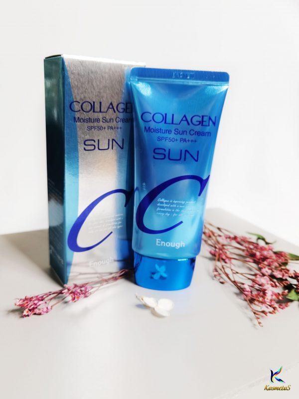 Nawilżający krem do opalania z kolagenem Enough Collagen Moisture Sun Cream SPF50+ PA+++ 2