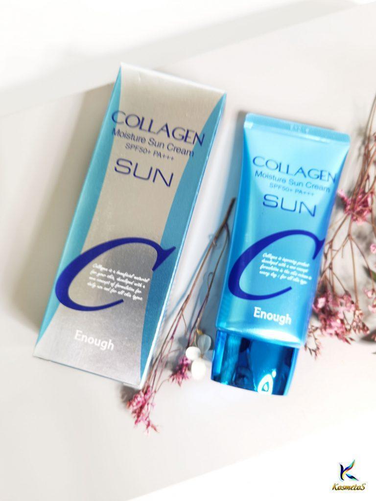 Nawilżający krem do opalania z kolagenem Enough Collagen Moisture Sun Cream SPF50+ PA+++ 3