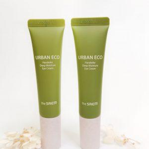 Nawilżający krem pod oczy z korzeniem lnu The Saem Urban Eco Harakeke Deep Moisture Eye Cream 3