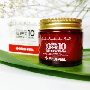 Odmładzający krem do twarzy na noc z kolagenem Medi-Peel Collagen Super10 Sleeping Cream 1