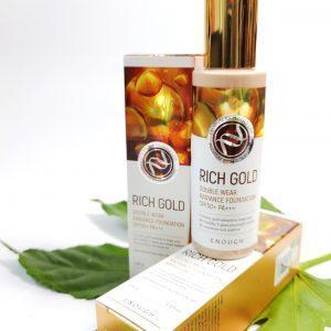 Odmładzający podkład do maskowania niedoskonałości skóry twarzy z cząstkami złota Enough Rich Gold Double Wear Radiance Foundation 1
