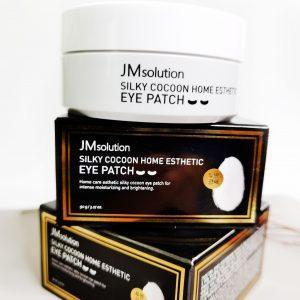 Platki hydrożelowe z proteinami jedwabiu JMsolution Silky Cocoon Home Esthetic Eye Patch 1