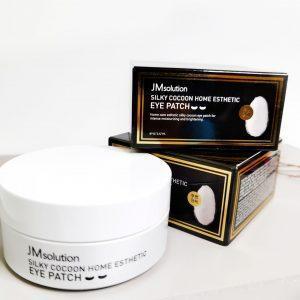 Platki hydrożelowe z proteinami jedwabiu JMsolution Silky Cocoon Home Esthetic Eye Patch 4