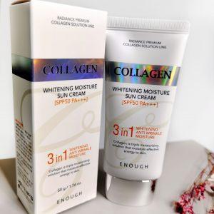 Rozjaśniający nawilżający krem do opalania z kolagenem ENOUGH Collagen Whitening Moisture Sun Cream SPF50+ PA+++ 1