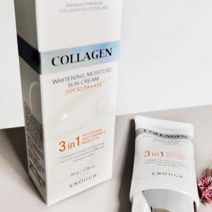 Rozjaśniający nawilżający krem do opalania z kolagenem ENOUGH Collagen Whitening Moisture Sun Cream SPF50+ PA+++ 3